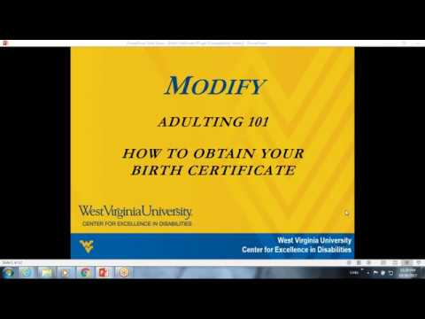 Adulting 101 - How to obtain a birth certificate - YouTube