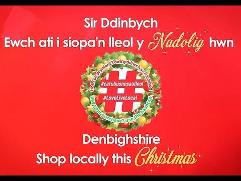 Caru Sir Ddinbych y Nadolig hwn/Love Denbighshire this Christmas