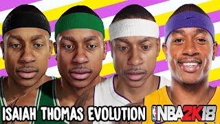 Isaiah Thomas Ratings and Face Evolution (NBA 2K12 - NBA 2K18)
