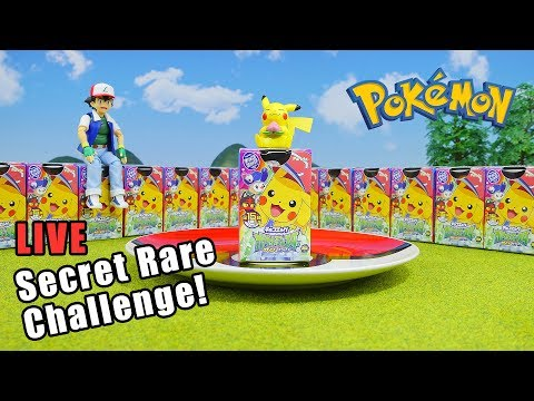 Pokemon Surprise Egg Secret Rare Challenge - 20 Eggs Opening Live Stream