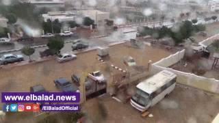 أمطار غزيرة بسانت كاترين وطور سيناء وشرم الشيخ..فيديو وصور