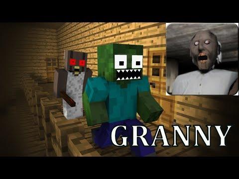 Monster School: GRANNY HORROR GAME CHALLENGE  - Minecraft Animation