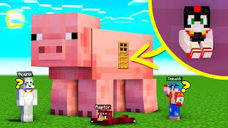 ¡INVICTOR SE ESCONDE DENTRO DE UN CERDO GIGANTE! 🐷😂 Minecraft Escondite