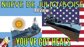 World of Warships - Nueve de Julio and Boise Review - You've Got Heals