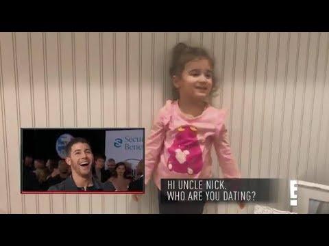 Nick Jonas' Niece (Alena) asks him a question at the AMAs