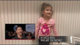 Nick Jonas' Niece (Alena) asks him a question at the AMAs