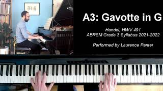 A:3 Gavotte in G (ABRSM Grade 3 piano, 2021-2022 syllabus)