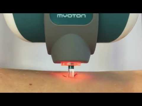 MyotonPRO closeup - Measurement of Muscle Stiffness, Muscle Tone and Muscle Elasticity