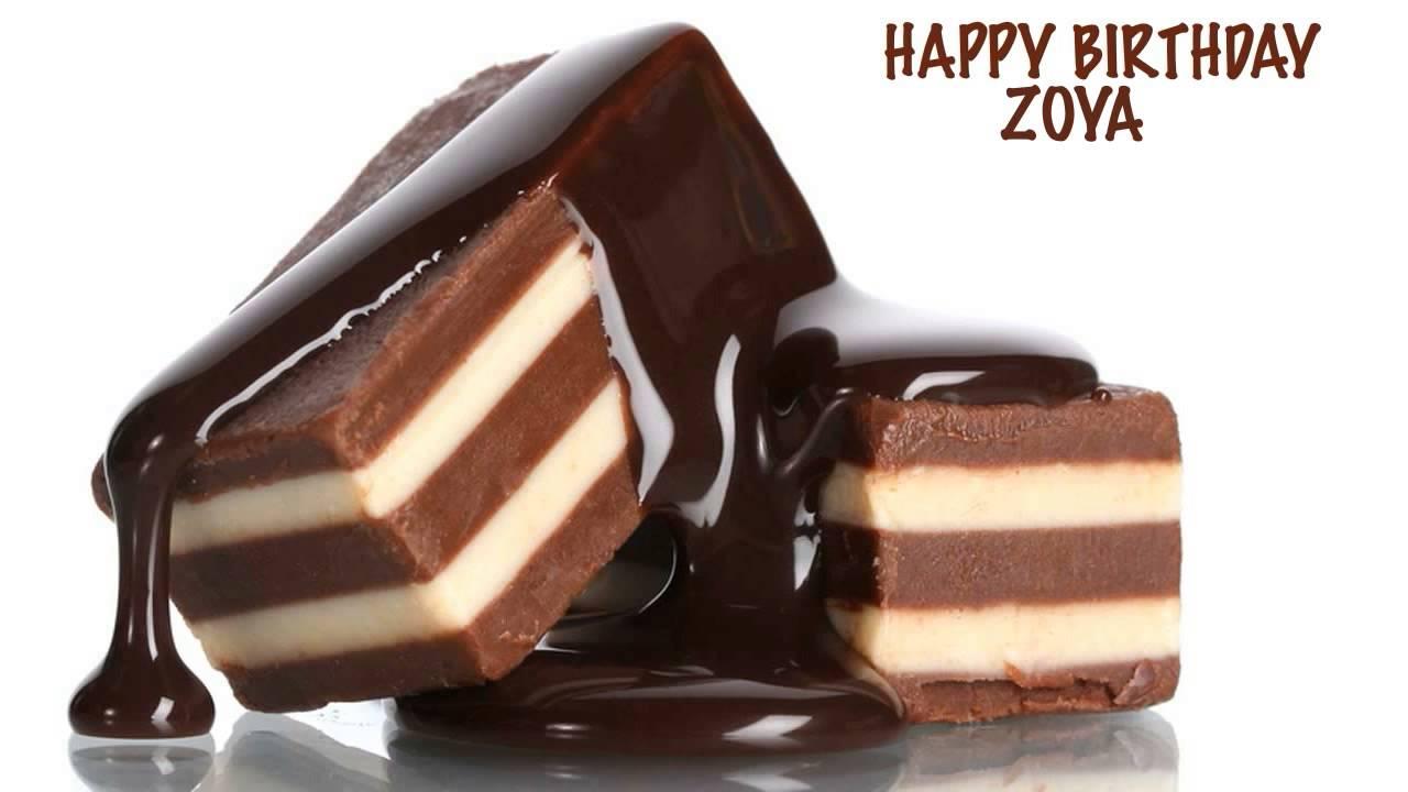 Birthday Cake With Name Zoya ~ Zoya chocolate happy birthday youtube