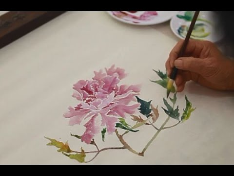 how to painting flowers in chinese watercolor youtube