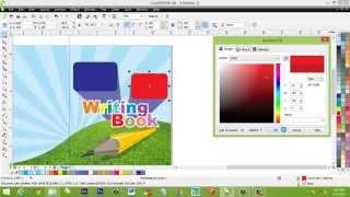 tutorial desain grafis cara membuat sampul buku di coreldraw
