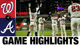 Adam Duvall, Dansby Swanson lead Braves' walk-off win | Nationals-Braves Game Highlights 8/17/20
