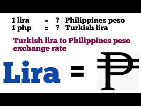 Turkish Lira To Philippines Peso Exchange Rate Today | Try To Php | Php Try | 1 Try To Php