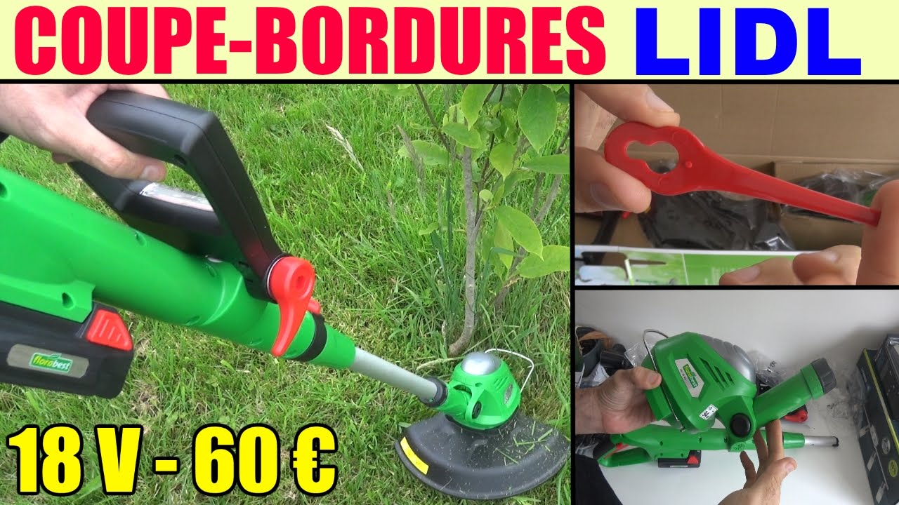 coupe bordures lidl florabest fat 18v (20v = 2 ah) cordless grass