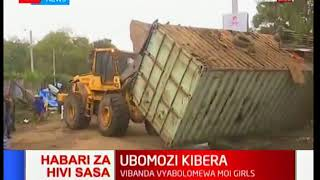 BREAKING NEWS: Demolitions ongoing in Kibera following the rape incident at Moi Girls School
