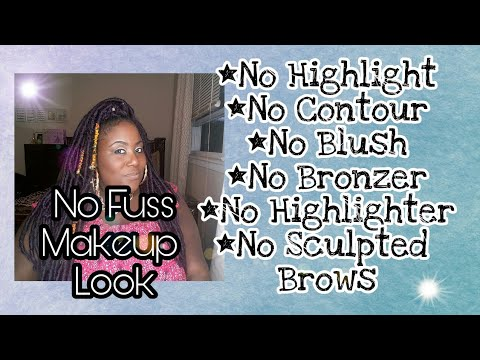 beginners friendly makeup look/ no highlight or contour
