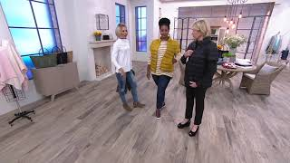 Martha Stewart Quilted Down Short Sleeve Puffer Jacket on QVC