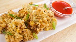 Corn Fritters Recipe ทอดมันข้าวโพด - Hot Thai Kitchen