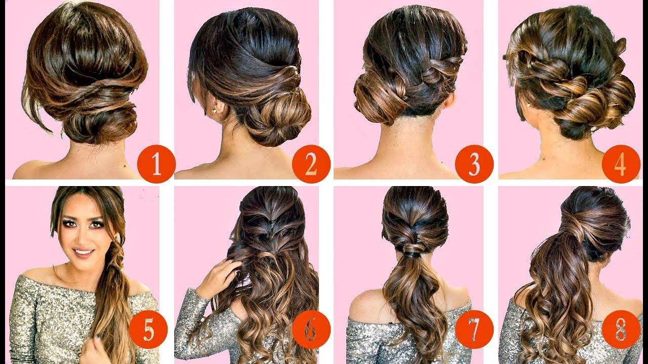 🔴 10 elegant hairstyles & updos 🔴   easy hairstyle tutorial for long medium hair
