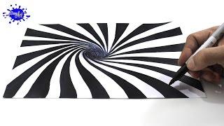Cómo dibujar una ilusión óptica 3D / How to draw optical illusion