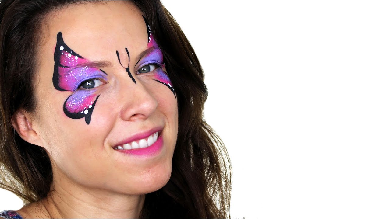 Uncategorized Face Painting Butterfly basic butterfly face painting tutorial youtube