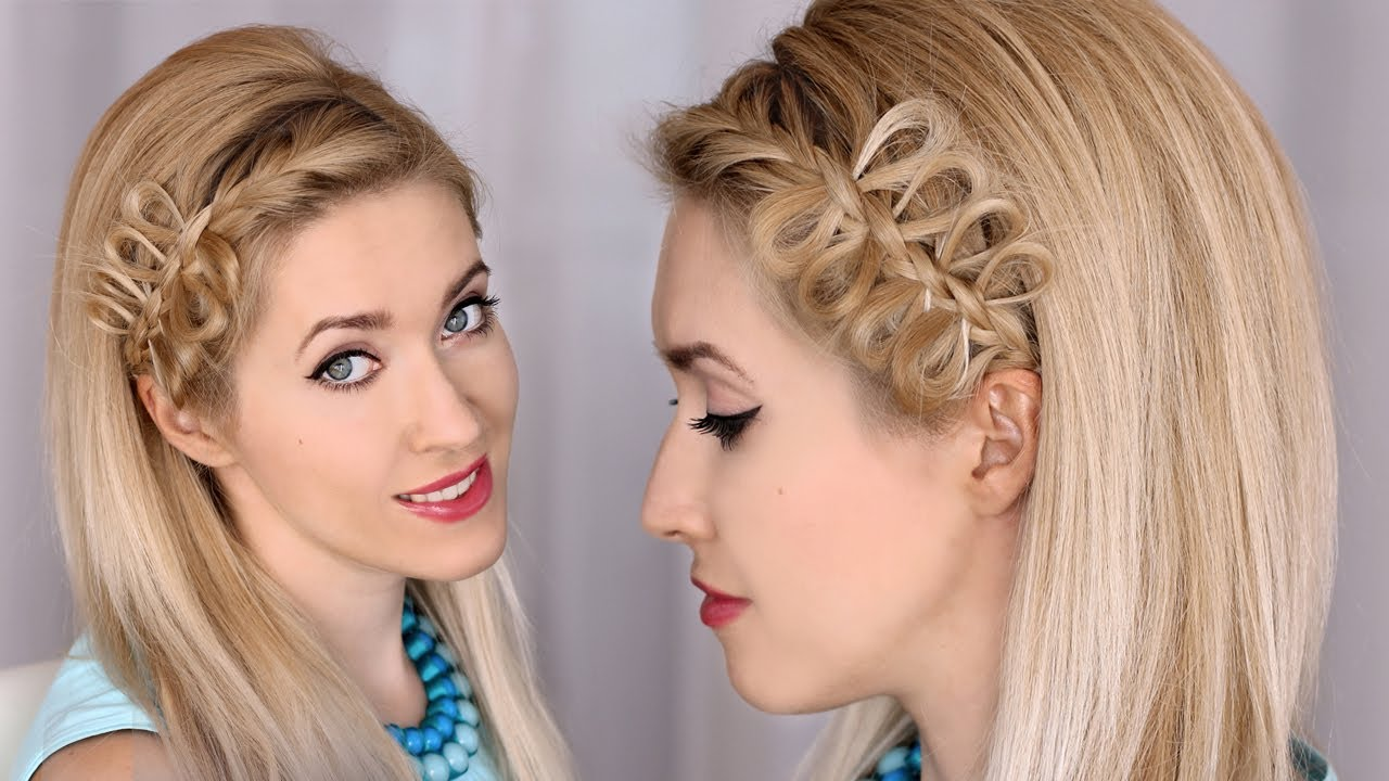 bow braid headband tutorial :: party hairstyle for medium/long hair