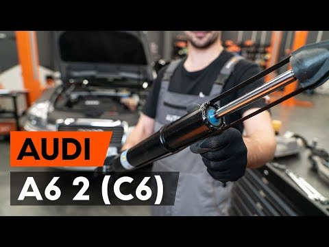 How to replace a front shock strut onAUDI A6 2 (C6)[TUTORIAL AUTODOC]