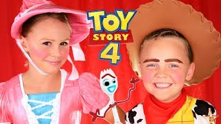 Disney Pixar Toy Story 4 Woody and Bo Peep Makeup and Costumes! Toy Story In Real Life