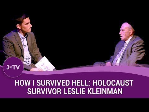 How I Survived Hell: Holocaust Survivor Leslie Kleinman Interview - Nottingham University (P.1)