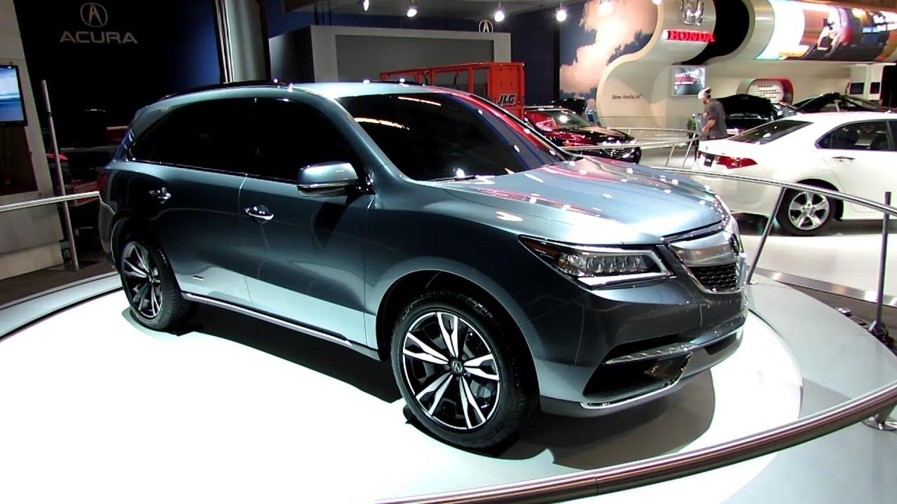 2014 acura mdx prototype exterior walkaround 2013 - Salon de l auto de montreal ...