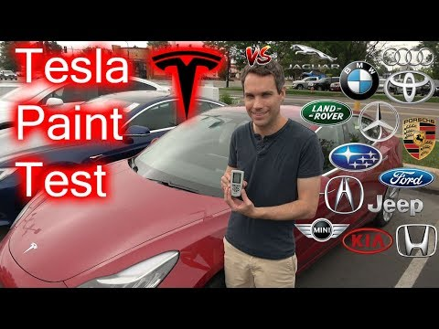 How Does Tesla Paint Compare To Other Car Manufacturers?