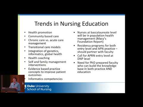 Dr. Marion Broome - Innovation in Nursing Education