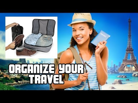 #1 Best Travel Tips, V1; Compression Packing Cubes Travel Luggage