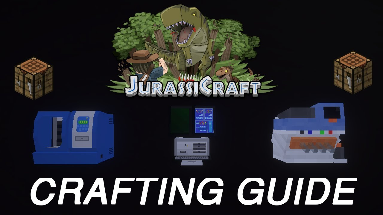 JurassiCraft 2 0 Crafting Guide: How to craft DNA Extractor,  Combinator-Hybridizer, Synthesizer by Open Bottle