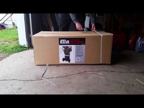 Unboxing: north star 2hp 20 gallon vertical air compressor