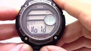 Годинник Casio Illuminator AE-3000W-1A - Інструкція, як налаштувати від PresidentWatches.Ru