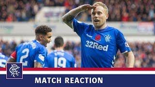 REACTION | Scott Arfield | Rangers 7-1 Motherwell