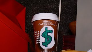 How i made a DIY MONEYBOX from a STARBUCKS CUP [ASMR VIDEO]
