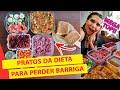 DIETA ORGANIZADA: COMIDA DA SEMANA PARA EMAGRECER e PERDER BARRIGA ( pão de batata doce e mais!)