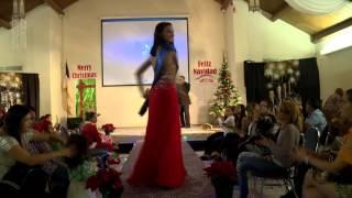 Taller en Accion's Fashion Show Elegant Dresses Christmas 2015