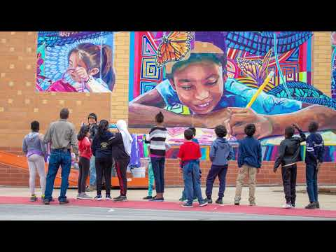 Riverside Central Elementary School Identity Project Mural Install