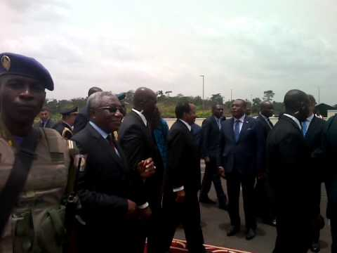 Baba Samba brings you the pictures of the arrival at the Nsimalen Airport of H.E. Sergio Mattarella