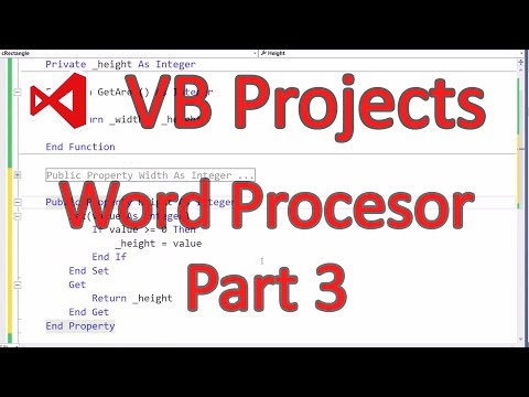 VB.NET 2013 - Word Processor (Part 3/4)