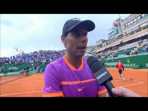 Rafael Nadal Post-match Interview / R2 Monte-Carlo 2017