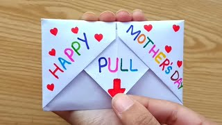 DIY - SURPRISE MESSAGE CARD FOR MOTHER'S DAY | Pull Tab Origami Envelope Card | Mother's Day Card