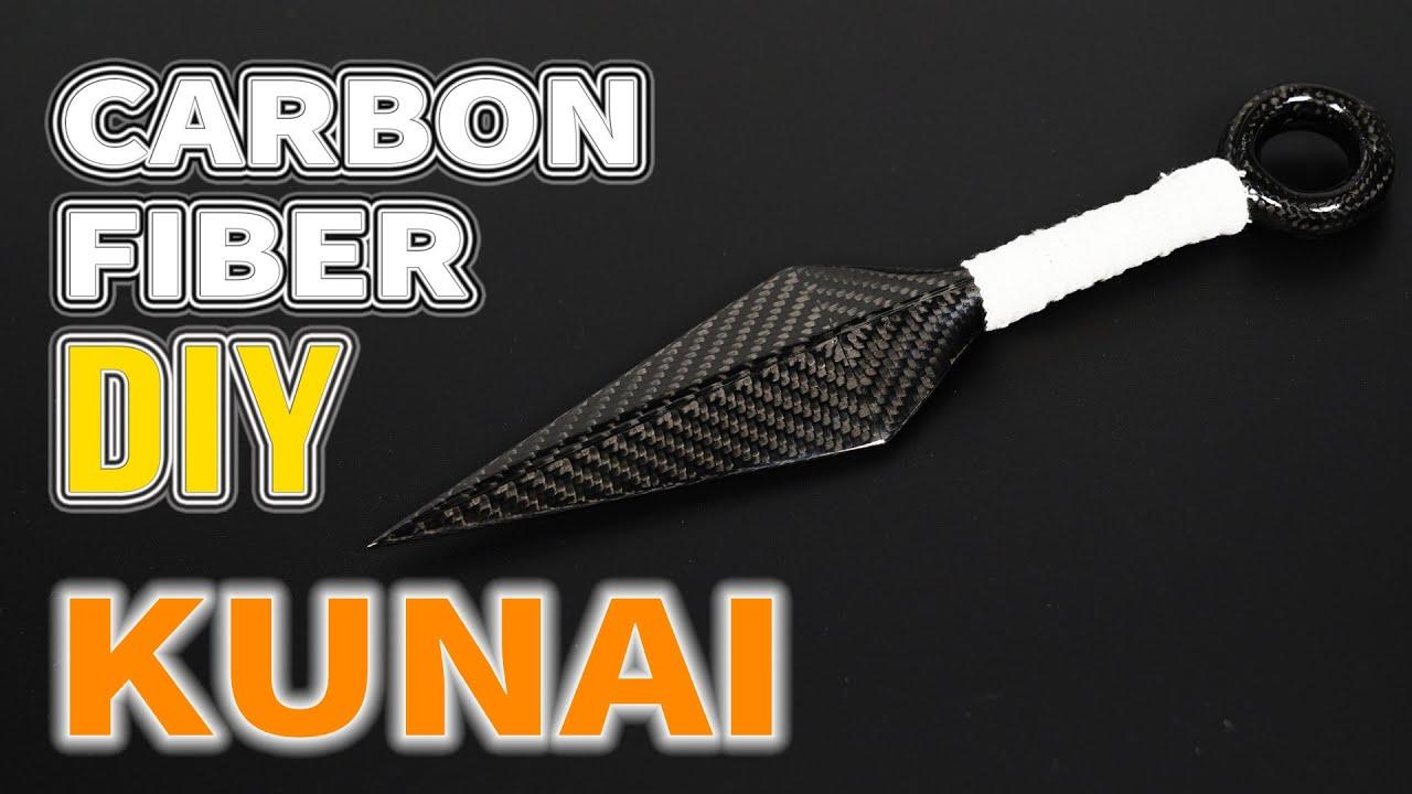 How to Make a Prepreg Carbon Fiber Naruto Kunai Knife with Two Trees BLUER PLUS 3D Printer [DIY]