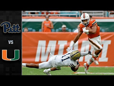 Pittsburgh vs Miami Football Highlights (2018)