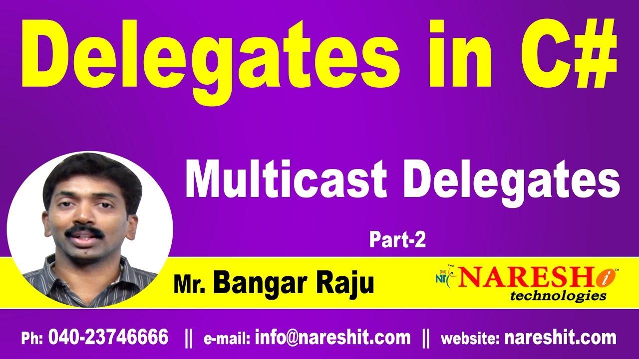 Multicast Delegates | Delegates Part 2 | C# NET Tutorial