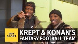 Krept & Konan's fantasy football team has Stormzy in goal - BBC Sport