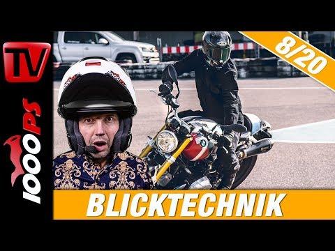 Die richtige Blicktechnik beim Motorradfahren - Motorrad fahren lernen 8/20